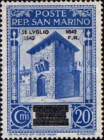 [Not Issued Edtion Overprinted - 28 LUGLIO 1943-1642 d. F. R ., Typ CE2]