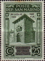 [Not Issued Edtion Overprinted - 28 LUGLIO 1943-1642 d. F. R ., Typ CE3]