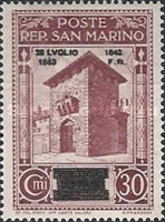 [Not Issued Edtion Overprinted - 28 LUGLIO 1943-1642 d. F. R ., Typ CE4]