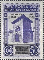 [Not Issued Edtion Overprinted - 28 LUGLIO 1943-1642 d. F. R ., Typ CE5]