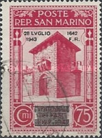 [Not Issued Edtion Overprinted - 28 LUGLIO 1943-1642 d. F. R ., Typ CE6]