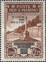 [Not Issued Edtion Overprinted - 28 LUGLIO 1943-1642 d. F. R ., Typ CF2]