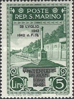[Not Issued Edtion Overprinted - 28 LUGLIO 1943-1642 d. F. R ., Typ CF3]