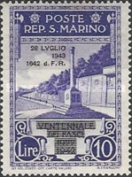 [Not Issued Edtion Overprinted - 28 LUGLIO 1943-1642 d. F. R ., Typ CF4]