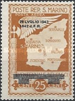 [Not Issued Edtion Overprinted - 28 LUGLIO 1943-1642 d. F. R ., Typ CG]