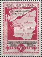 [Not Issued Edtion Overprinted - 28 LUGLIO 1943-1642 d. F. R ., Typ CG1]
