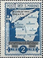 [Not Issued Edtion Overprinted - 28 LUGLIO 1943-1642 d. F. R ., Typ CG4]