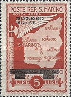 [Not Issued Edtion Overprinted - 28 LUGLIO 1943-1642 d. F. R ., Typ CG5]