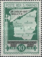[Not Issued Edtion Overprinted - 28 LUGLIO 1943-1642 d. F. R ., Typ CG6]