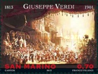 [The 200th Anniversary of the Birth of Guiseppe Verdi, 1813-1901 and Richard Wagner, 1813-1883, Typ CRS]