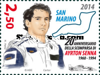 [The 20th Anniversary of the Death of Ayrton Senna, 1960-1994, Typ CSU]