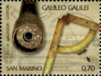 [The 450th Anniversary of the Birth of Galileo Galilei, 1564-1642, Typ CTN]
