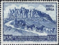 [The 75th Anniversary of UPU - Universal Postal Union, Typ EY2]