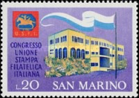 [Italian Philatelic Press Union Congress, San Marino, Typ XZ]