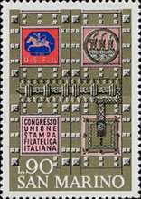 [Italian Philatelic Press Union Congress, San Marino, Typ YA]