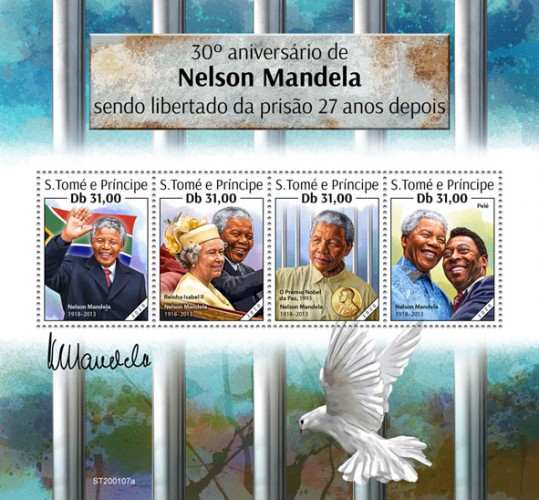 [The 30th Anniversary of Nelson Mandela, 1918-2013, being Released from Prison after 27 Years, type ]