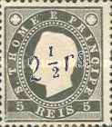 [Newspaper Stamps - No. 15-17 Surcharged in Black or Green, Typ E]