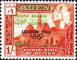 "[""SOUTH ARABIA"" Stamps of 1966 Overprinted with Olympic Host City, Year and Olympic Rings, type V3]"
