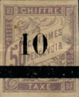 [French Colonies General Issues Postage Stamps Surcharged, Typ A]