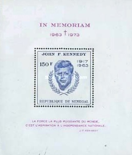 [The 10th Anniversary of the Death of John F. Kennedy, 1917-1963, type ]