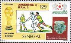 [Football World Cup - Mexico 1986 - Winners Argentina, Typ AAD]