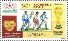 [Football World Cup - Mexico 1986 - Winners Argentina, Typ AAG]