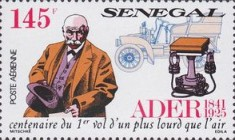 [Airmail - The 150th Anniversary of the Birth of Clement Ader, 1841-1925, Typ AJQ]