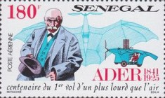 [Airmail - The 150th Anniversary of the Birth of Clement Ader, 1841-1925, Typ AJR]