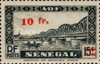 [Faidherbe Bridge & Diourbel Mosque Stamps of 1935 Surtaxed, type AK15]