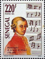 [The 200th Anniversary of Wolfgang Amadeus Mozart, 1756-1791, Typ ALB]