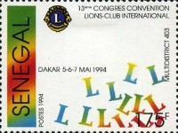[The 13th Congress of District 403 of Lions Clubs International, Dakar, Typ AQN]