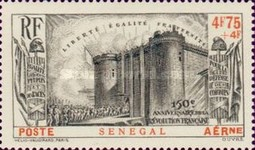 [Airmail - The 150th Anniversary of French Revolution, Typ BA5]