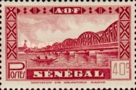 "[Faidherbe Bridge, Diourbel Mosque and Senegalese Woman - Without ""RF"" Inscription, type BN]"