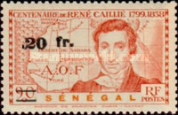 [René Caillié Stamps of 1939 Surcharged, type BT1]