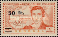 [René Caillié Stamps of 1939 Surcharged, type BT2]