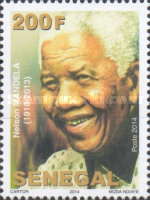 [The 1st Anniversary of the Death of Nelson Mandela, 1918-2013, Typ BWI]