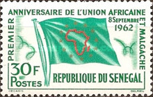 [The 1st Anniversary of Union of African and Malagasy States, Typ CP]