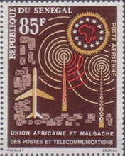[Airmail - The 2nd Anniversary of Union of African and Malagasian Posts and Telecommunications, Typ DE]