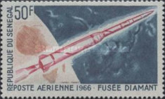 [Airmail - Start of French Space Satellites, type FD]