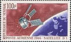 """[Airmail - Launching of French Space Satellite """"D1"""", type FN]"""