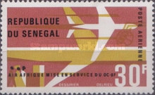 [Airmail - Inauguration of DC-8F Air Service, type FP]