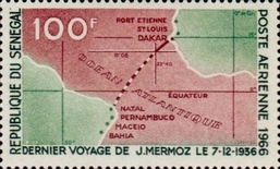 [Airmail - The 30th Anniversary of the Death of Jean Mermoz, 1901-1936, type FW]