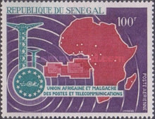 [Airmail - The 6th Anniversary of Union of African and Malagasy Post and Telecommunications, Typ GP]