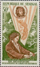 [Airmail - The 200th Anniversary of the Birth of Ludwig van Beethoven, 1770-1827, Typ JG]