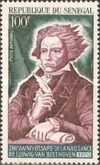 [Airmail - The 200th Anniversary of the Birth of Ludwig van Beethoven, 1770-1827, Typ JH]