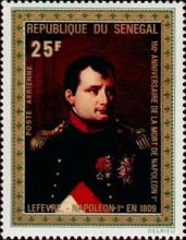 [Airmail - The 150th Anniversary of the Death of Napoleon, 1769-1821, type KH]