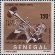 [Airmail - Louis Armstrong Commemoration, 1900-1971, Typ KU]