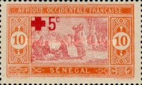 [Red Cross - Market Stamp of 1914 Surtaxed, type M17]