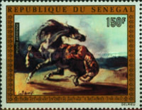 [Airmail - The 175th Anniversary of the Birth of Eugene Delacroix, 1798-1863, Typ NQ]