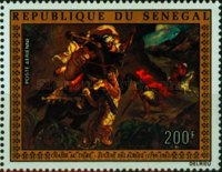 [Airmail - The 175th Anniversary of the Birth of Eugene Delacroix, 1798-1863, Typ NR]